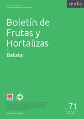 Boletín de Frutas y Hortalizas del Convenio INTA- CMCBA Nº 71 - Batata